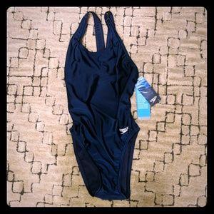 Speedo navy competitive swimsuit 30